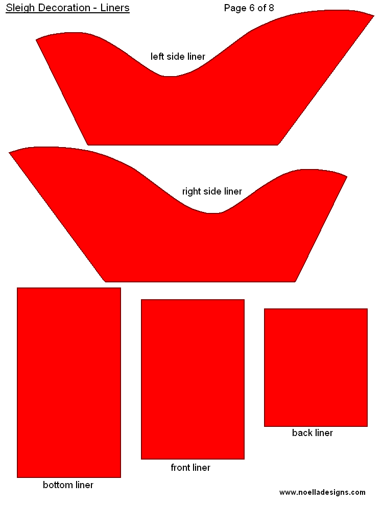 This is an image of Witty Free Printable Santa Sleigh Templates