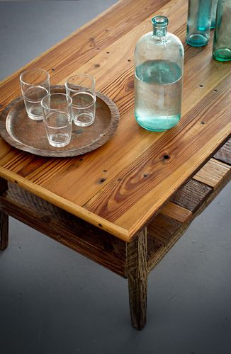 Reclaimed Wood Furniture Custom Built By Landrum Tables Charleston Sc