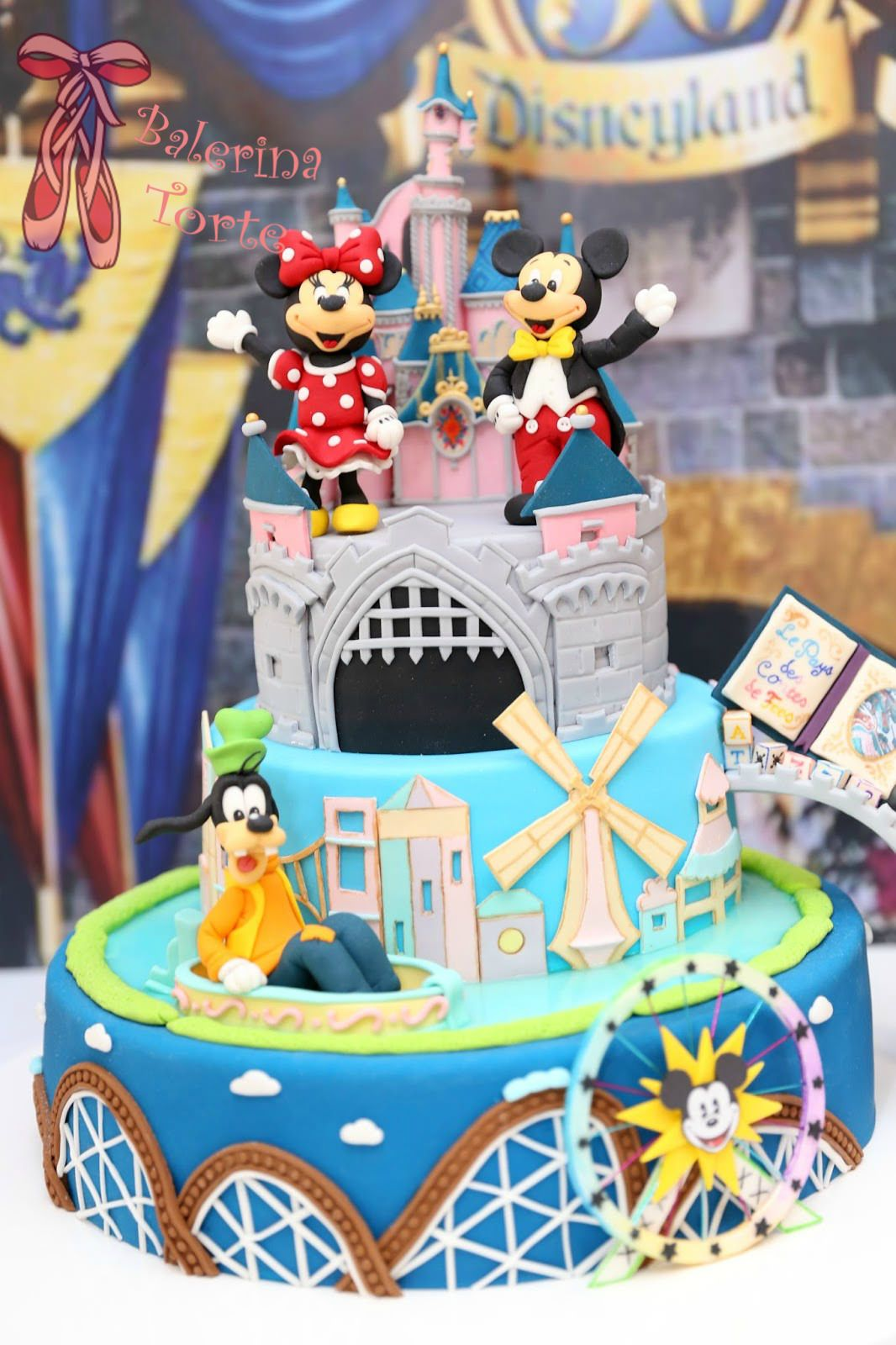 Astonishing Disneyland Cake Diznilend Torta By Balerina Torte Jagodina Personalised Birthday Cards Veneteletsinfo