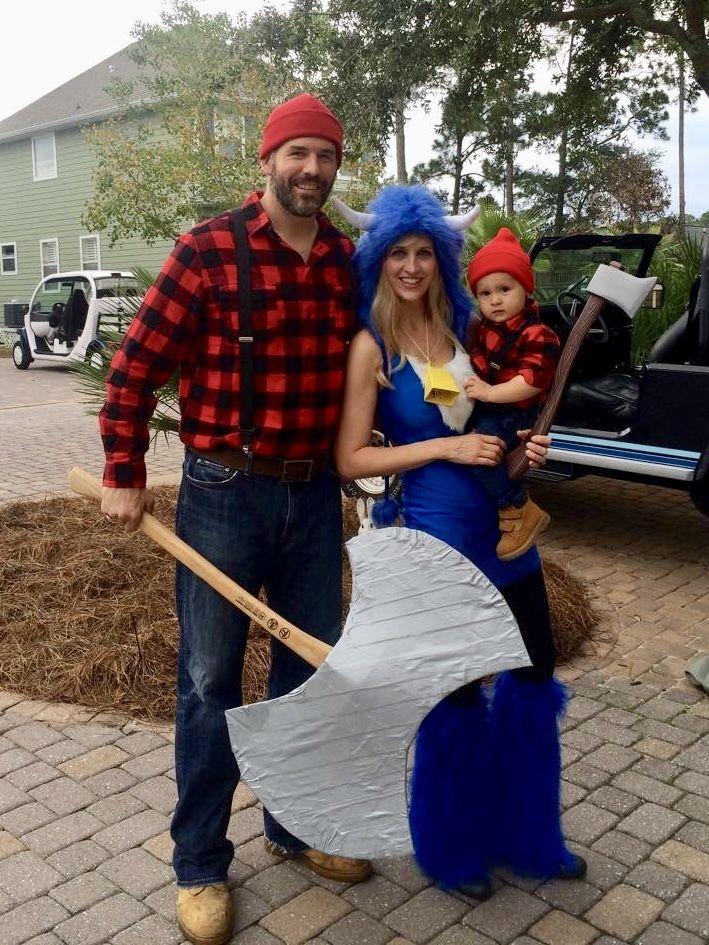 paul bunyan baby paul bunyan and babe the blue ox family group halloween costume