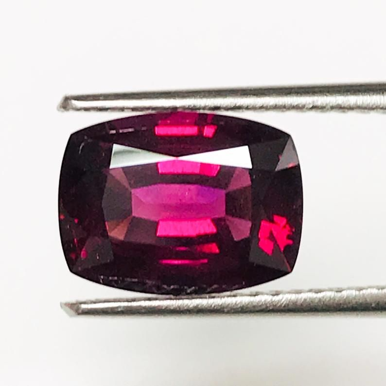 Natural Rhodolite Garnet Cushion Cut Calibrated Size Loose Garnet Gemstone