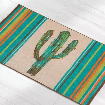Cactus in Color Bath Rug