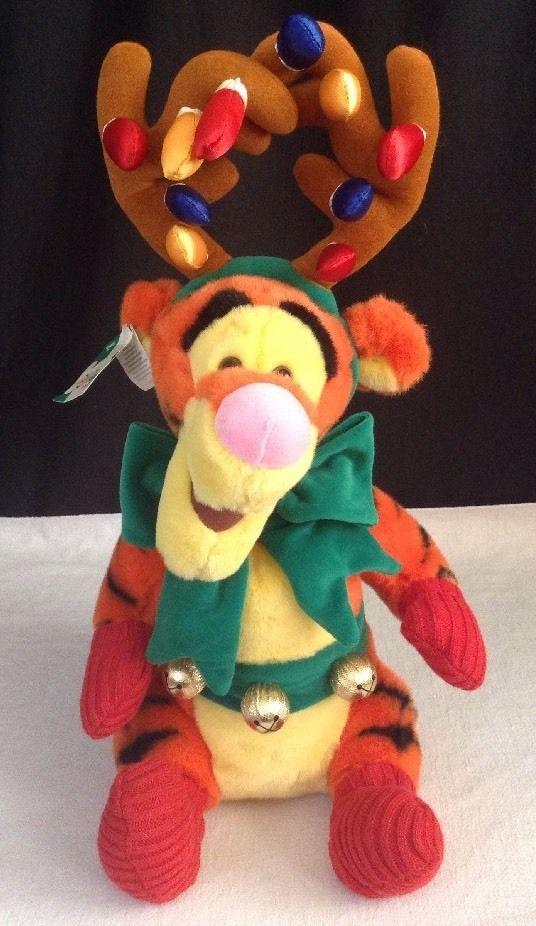 14 disney store winnie the pooh holiday tigger christmas lights plush reindeer disney