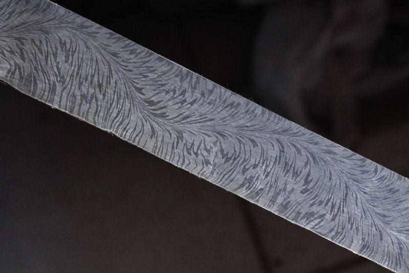 Bold Serpent Damascus 12 1 4 X 1 1 2 X 190 Hhh Custom Knives