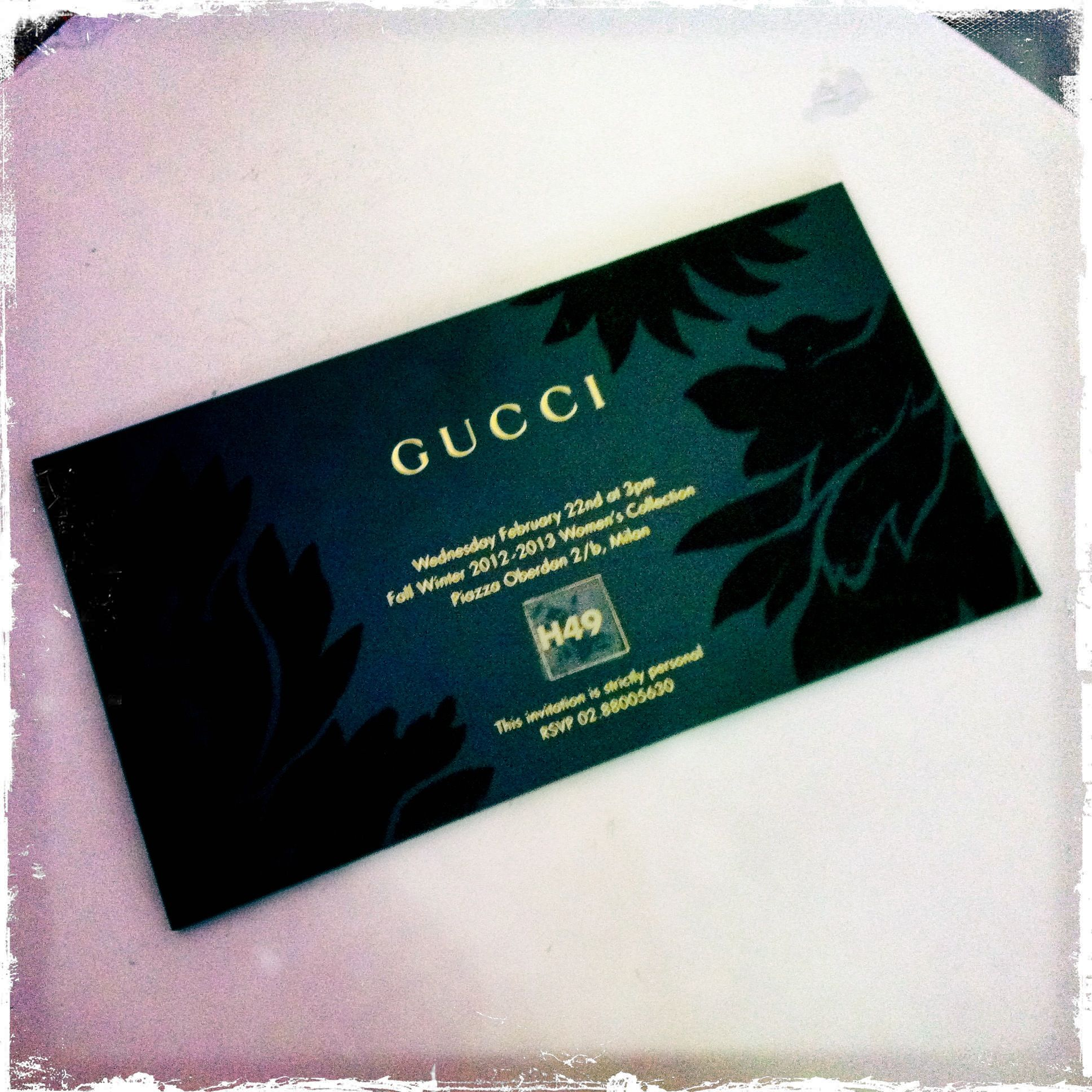 gucci invitation card | Business Cards Design | Pinterest | Window ...