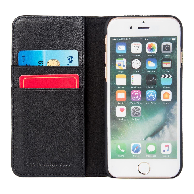 INONES iPhone 7/iPhone 7s ケース 本革 手帳型 デニム アイフォン7カバー 財布型