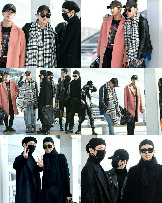 BTS at Incheon Airport heading to MAMA 2016 in Hong Kong ❤ (Press Photos) #BTS #방탄소년단
