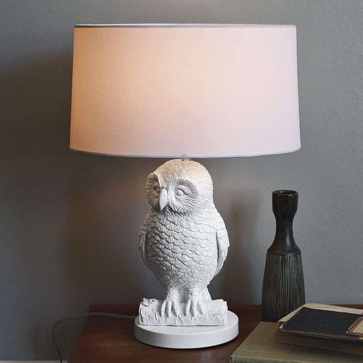 Owl table lamp whitewhite west elm hoot suite pinterest owl table lamp whitewhite west elm mozeypictures Choice Image