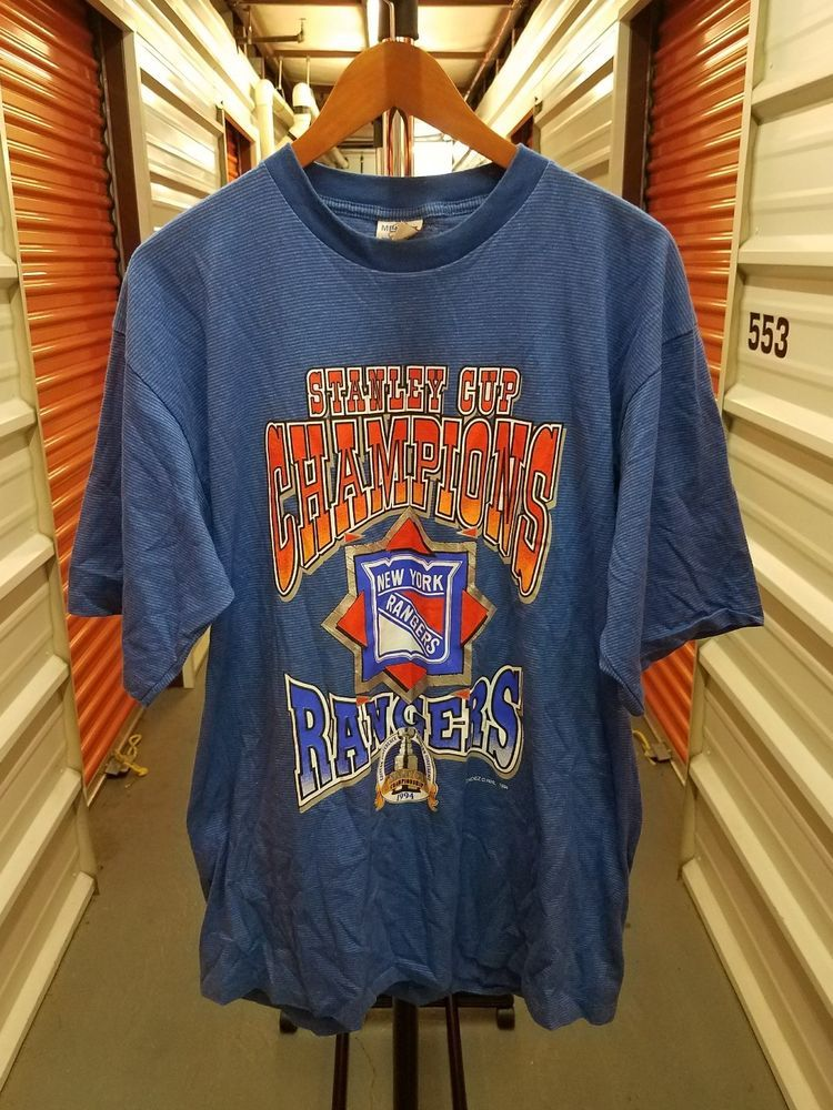 Vintage 1994 NHL New York Rangers Stanley Cup Champions T ...