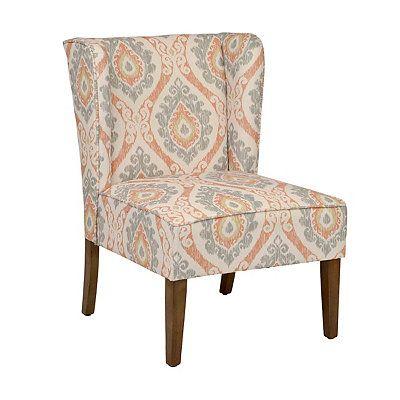 Ikat Print Wing Back Chair | Kirklands