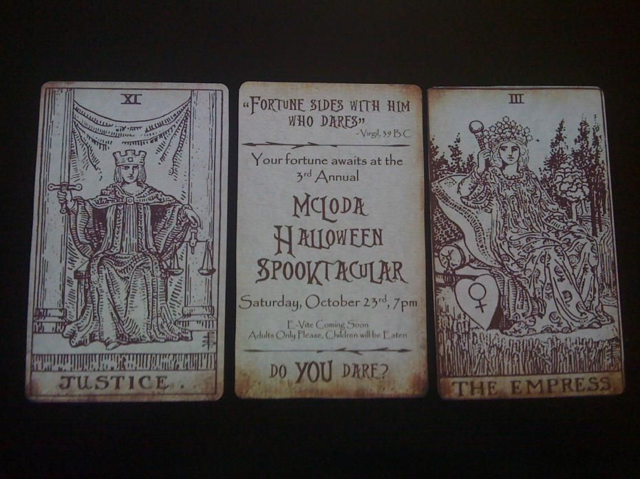 Lets try this again sorryHere are our 2010 SaveTheDates I – Halloween Wedding Save the Dates