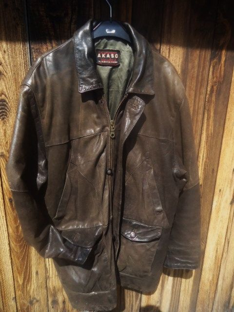 exceptional leather jacket men leather jacket leather jacket vintage size m leather brown. Black Bedroom Furniture Sets. Home Design Ideas