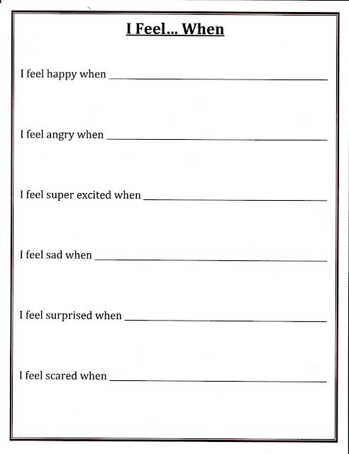 identifying emotions worksheet for adults identifying emotions ...