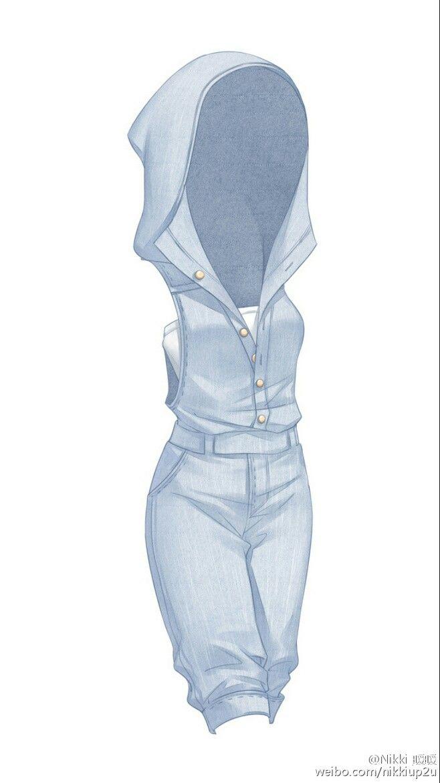 Anime Characters Jumpsuit : Ensemble d été comportant une salopette en jean sans