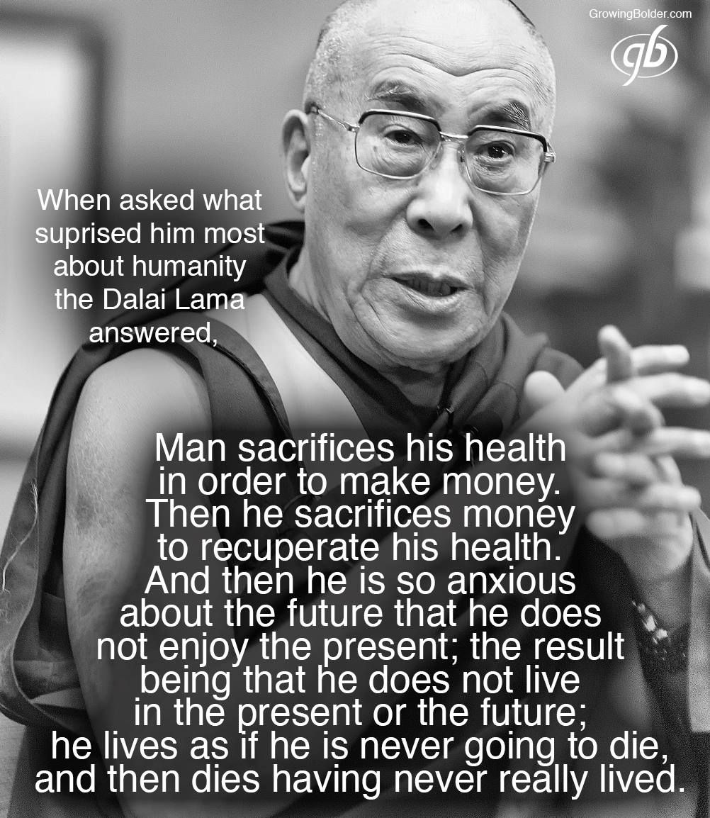 Dalai Lama Quotes On Life When Asked What Surprised Him Most About Humanity The Dalai Lama
