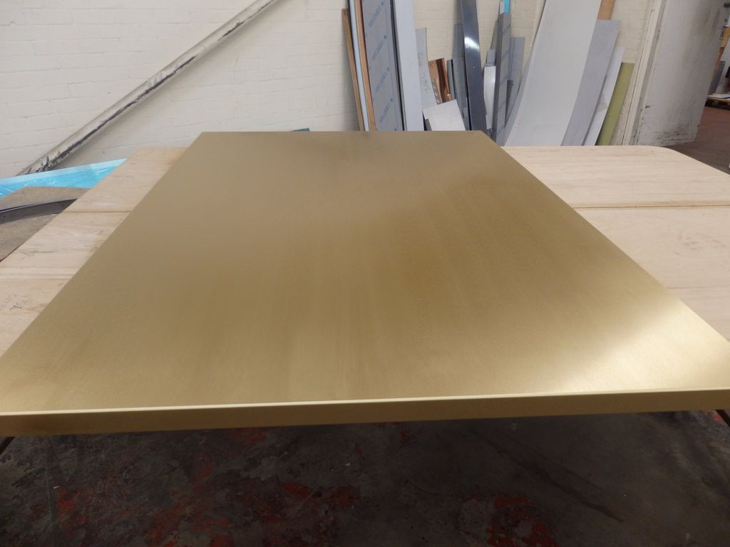 Brushed Brass Table Top Brass Table Steel Sheet Metal Table Top