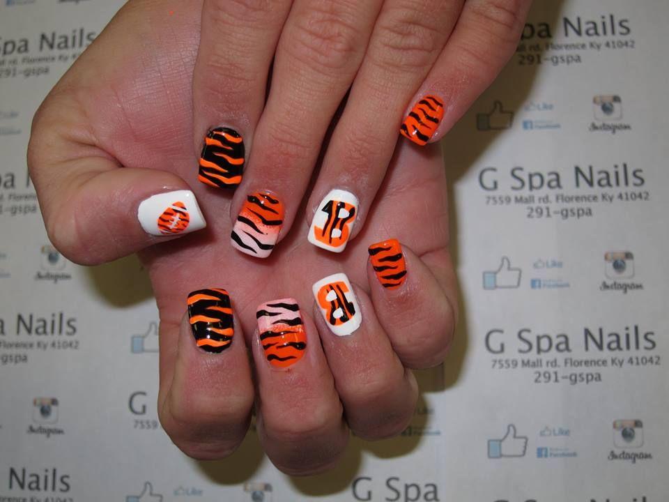 Bengal Nail designs   Nails designs   Pinterest   Bengal, Football ...