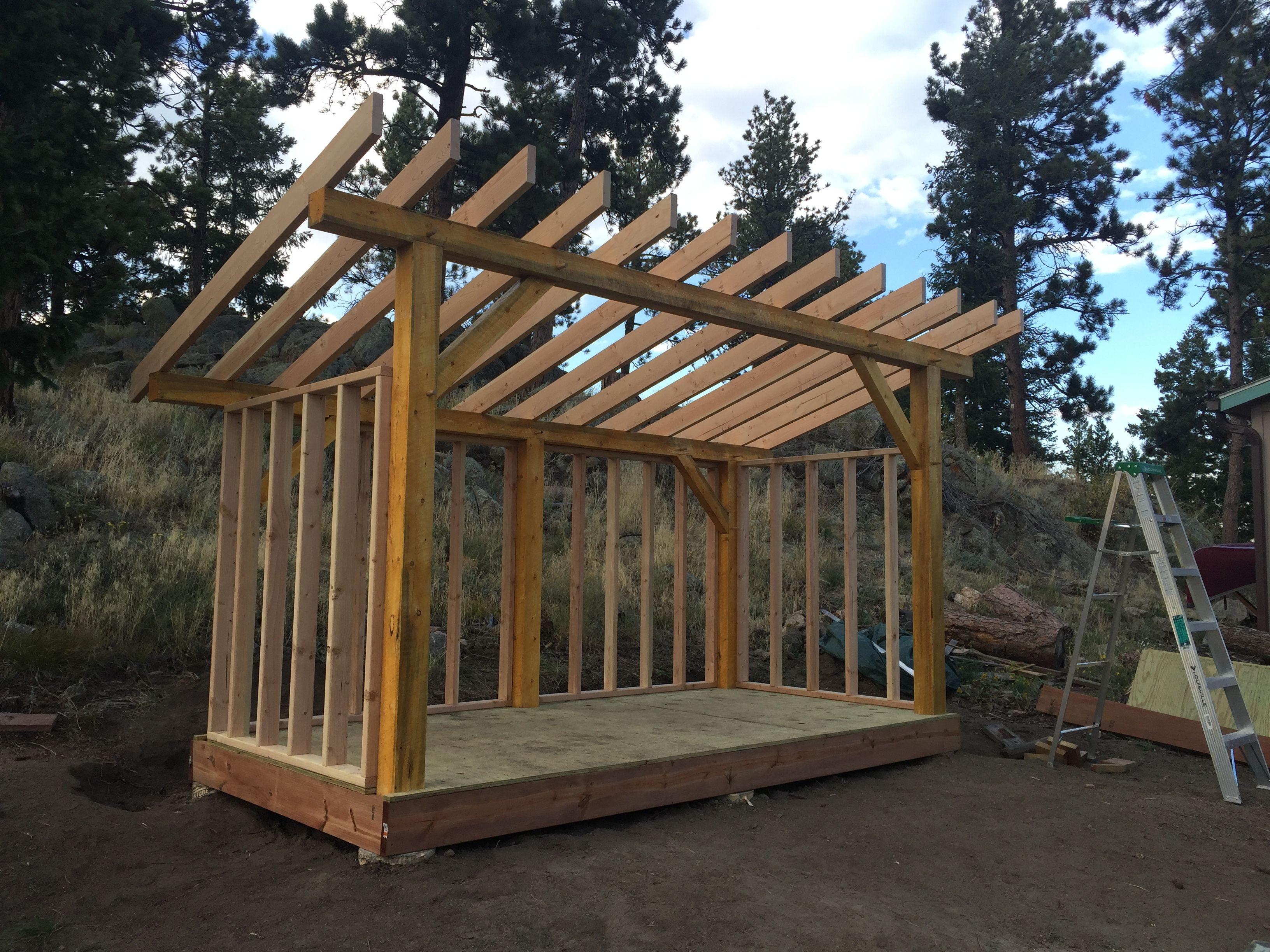 2x8 Rafters Are Installed On 14 Centers With Hurricane Clips Wood Shed Outdoor Screen Room Shed Frame
