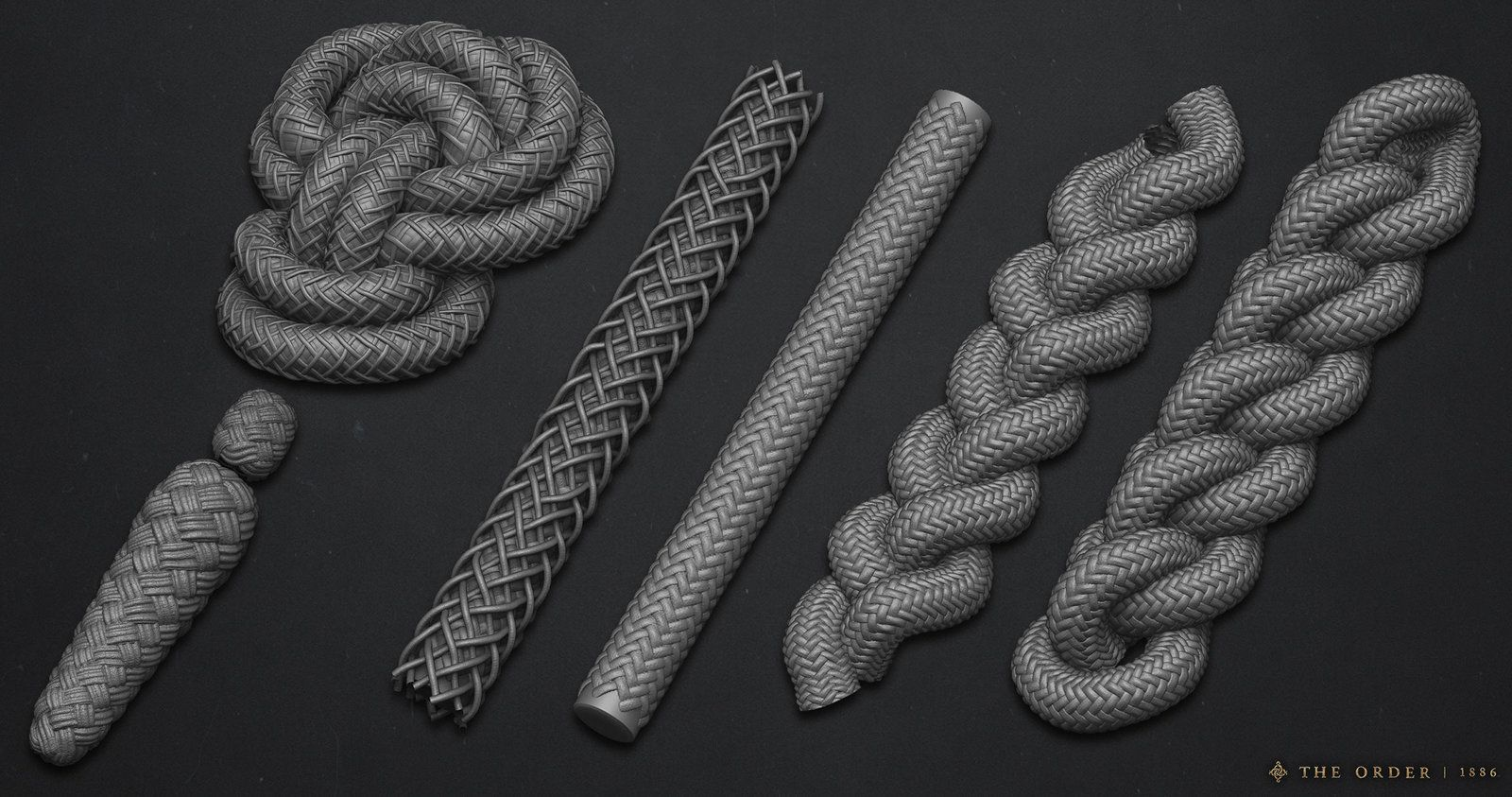 Knight Uniform Rope and Aiguillettes, Nathan Phail-Liff on ArtStation at https://www.artstation.com/artwork/knight-uniform-cording-and-rope-c5c96935-0ada-4660-9546-f969ba42e0c0