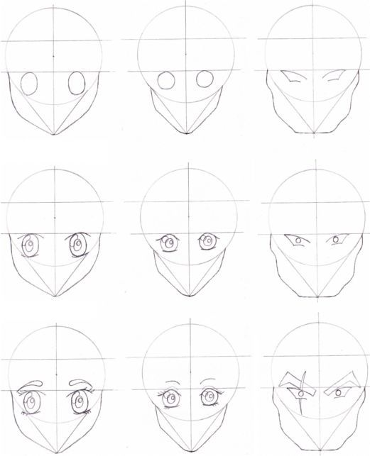 Basic face shapes