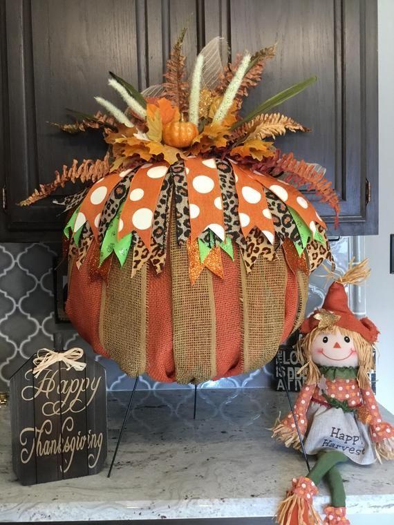 Photo of Fall Wreath Fall Harvest Wreath Pumpkin Wreath