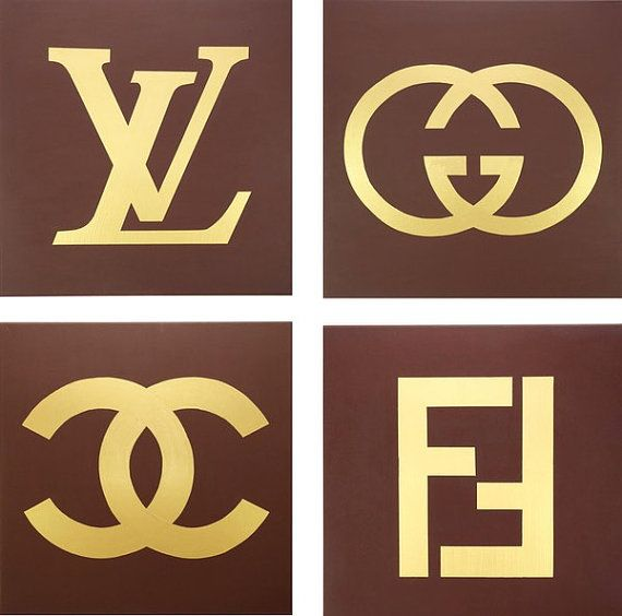 bde5a66fb922c Louis Vuitton, Gucci, Fendi and Chanel Paintings (Set of Four, each ...