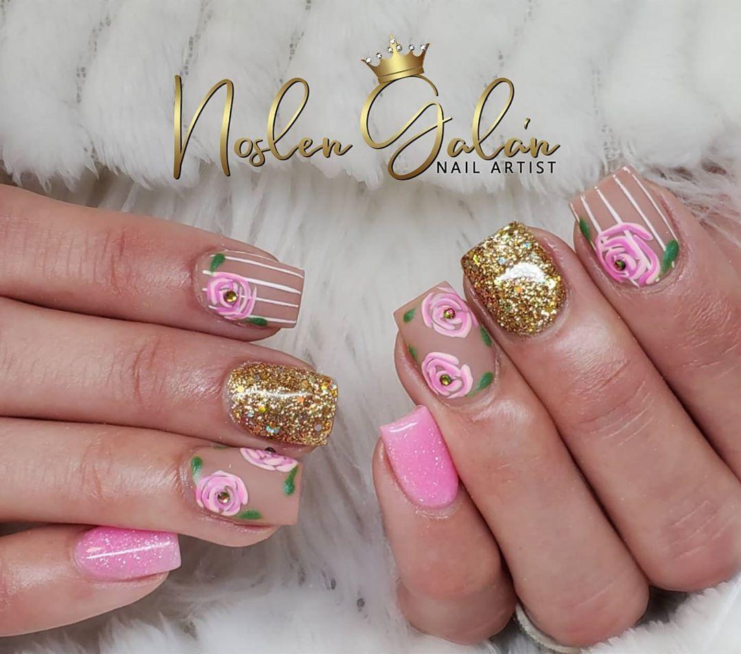 80 Cute Short Nail Art Design Ideas You Can Copy In 2020 Summer Page 5 Of 16 Ibaz In 2020 Short Nails Art Nail Art Nail Art Designs