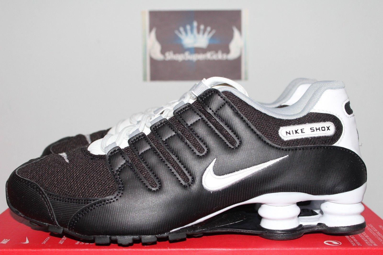 Nike Shox NZ SE Black White-White-Wolf Grey Running 833579-002 Mens US 14 dd071b62f