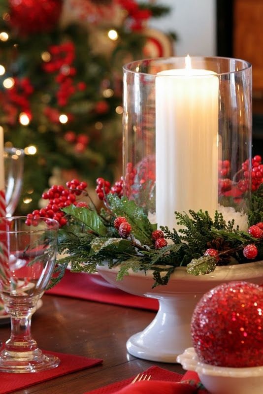 pretty table decoration Xmas decorations Pinterest Table