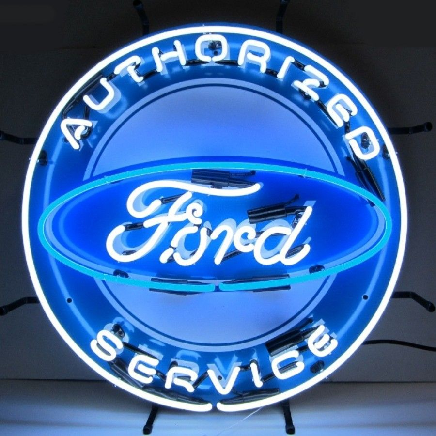 Neonetics Wall Lighting Ford Neon Sign With Silkscreen Backing