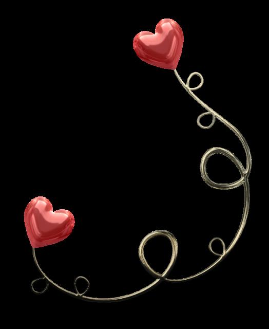 Картинка с сердечком в уголке