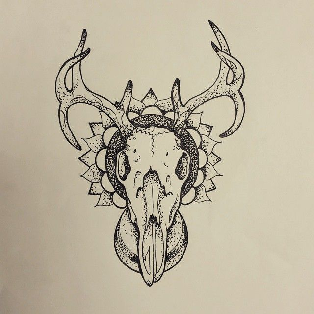 Have This Fun Deer Skull Mandala Up For Grabs
