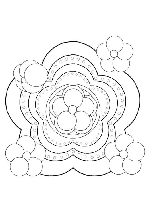 Dibujo para colorear flor | coloring 5 | Pinterest | Colorear, Flor ...