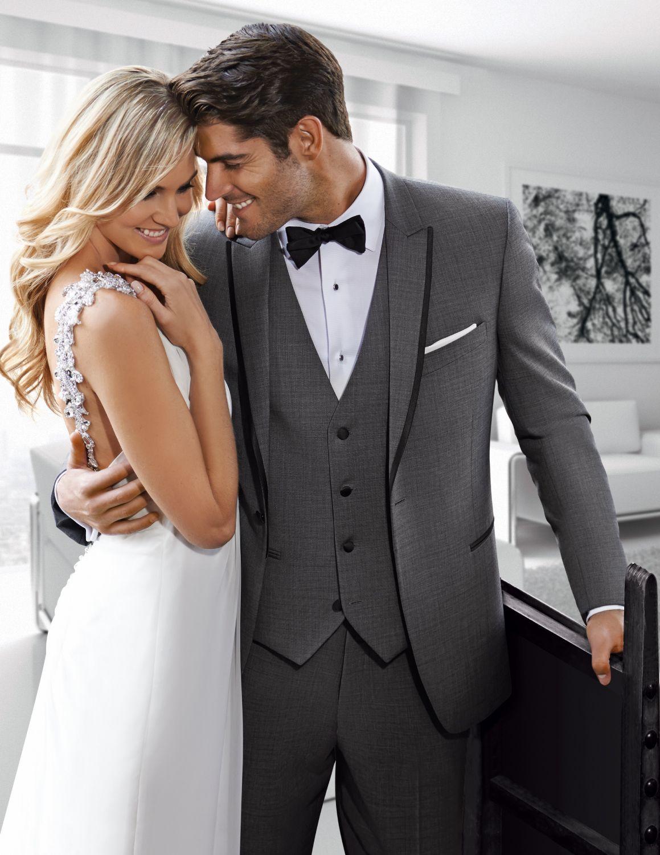 Tux Rentals Grey tuxedo, Tuxedo wedding, Grey tuxedo wedding