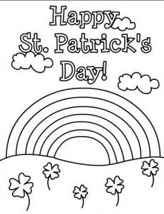 st patrick's day coloring pages for kids  preschool and kindergarten  st patricks day crafts