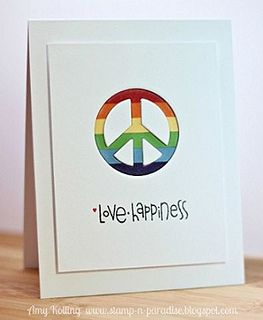 Peace Love & Happiness Card by @Amy Kolling