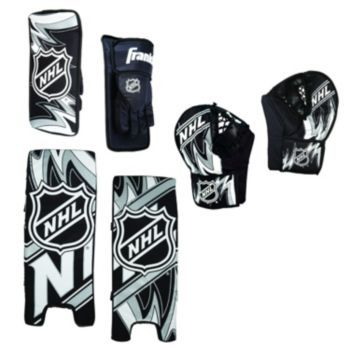 Franklin Nhl Extreme Tech Goalie Set Youth Street Hockey Goalie Pads Hockey Goalie Pads