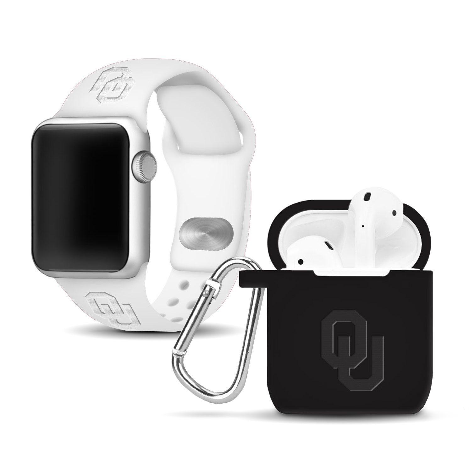 Oklahoma Sooners Debossed Apple Combo Package In 2021 Deboss Apple Watch Watch Bands