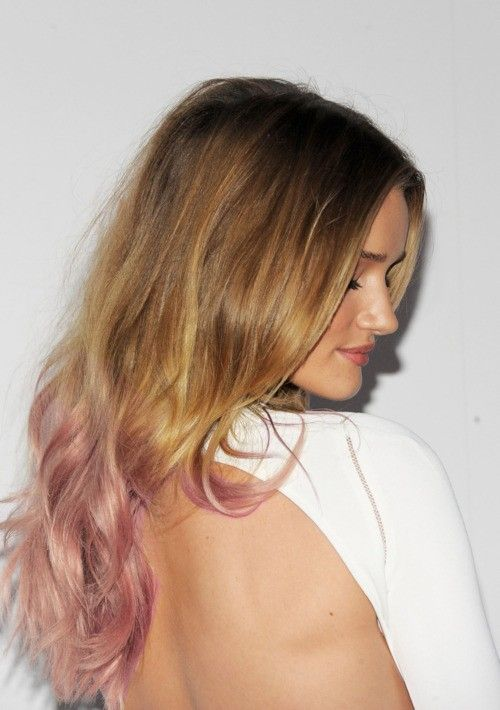 Golden Blonde With Pastel Pink Ends Hair Color Pink Golden