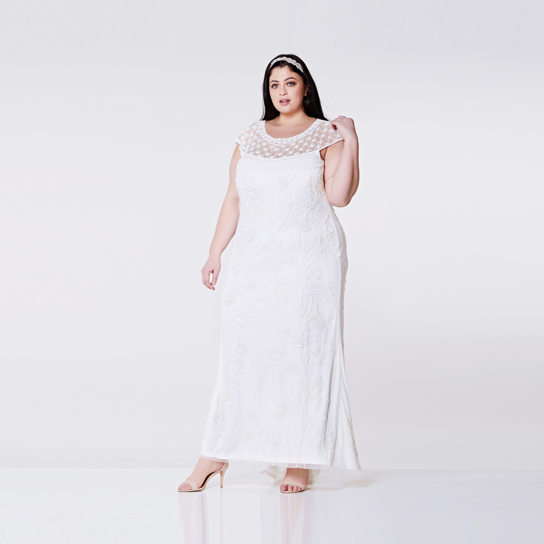 Plus Size Wedding Gown Off White Prom Maxi Elizabeth Dress
