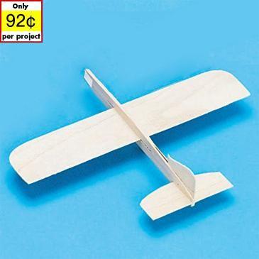 Balsa-Wood Top Gun Glider Model Plane only $0.92 each