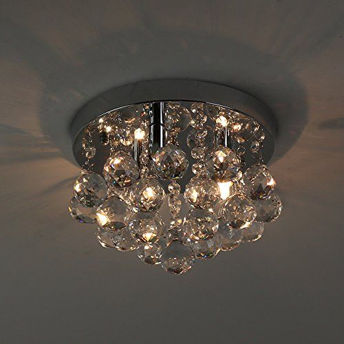 natsen modern ceiling lights crystal flush mount ceiling light fixture for kitchen bedroom dining room    learn more by visiting the image link  natsen modern ceiling lights crystal flush mount ceiling     https      rh   pinterest com