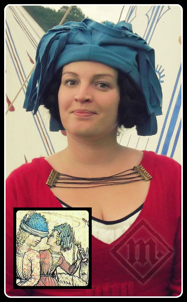 Hood based on The Medieval Housebook of Wolfegg Castle. Last quarter of 15th century. www.ladymalina.com
