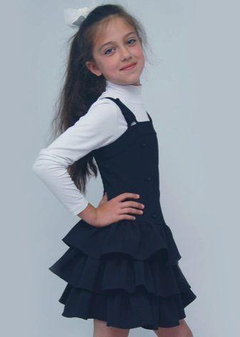 модель юбки для полной девочки в школу