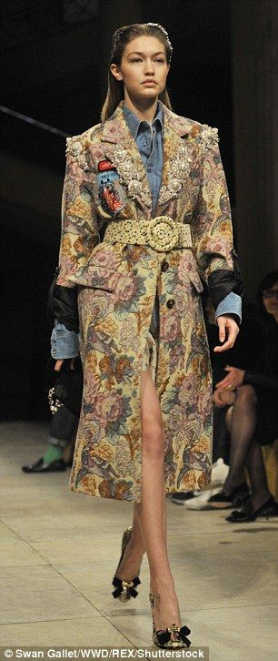 Owning the runway for one last time: Supermodel stunners Gigi Hadid (left), Kendall Jenner...