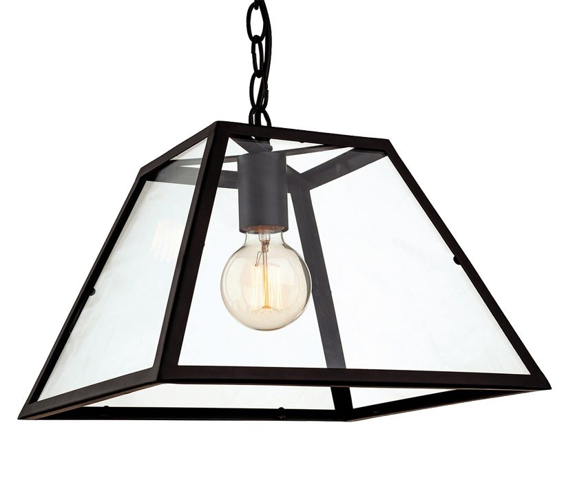 Firstlight Kew Single Light Ceiling Pendant Black Finish With