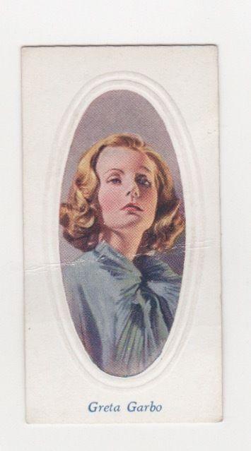 Film star cigarette card 1936 Greta Garbo