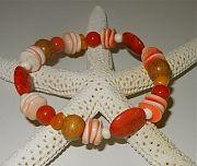 Coral Shell Bracelet by Nancy Yuskaitis