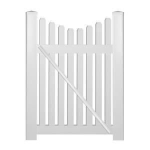 Snapfence White Modular Vinyl Fence Gate Kit Gk 2 The Home Depot In 2020 Vinyl Picket Fence Picket Fence Gate Fence Gate