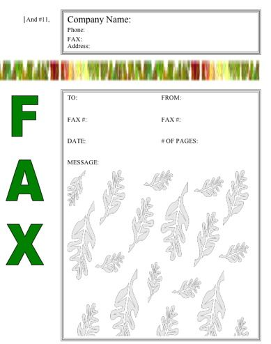 This NatureThemed Fax Cover Sheet Shows Off Colorful Grasses The